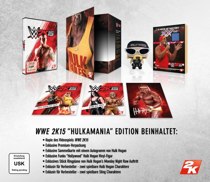 WWE 2K15 Hulkmania Edition Includes GER