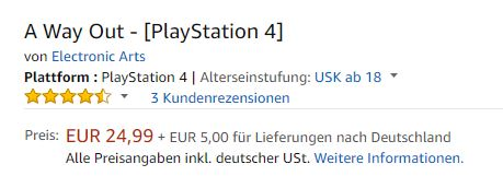 A Way Out Angebot Amazon