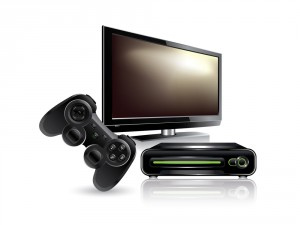 bigstock-Video-game-console-25532813