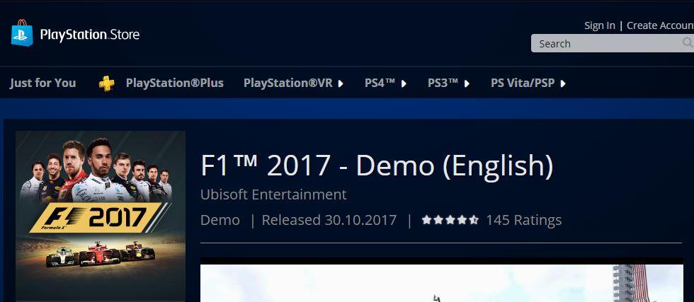 F1 2017 Demo Release