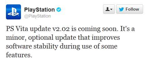 PS Vita Update Ankündigung